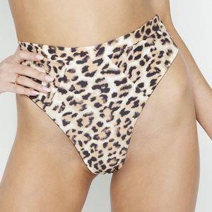 Beach bunny Emerson leopard high waist bottom